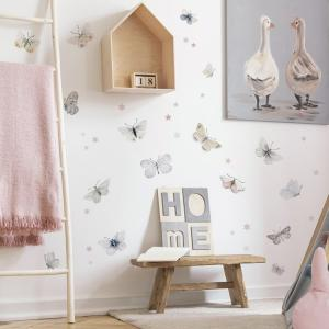 Nálepky na stenu Animals - motýle a hviezdičky DK409
