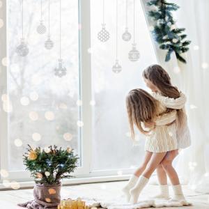 Nálepky na stenu Christmas - vianočné gule 14ks SW024
