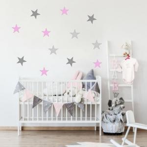 Nálepky na stenu- Farebné hviezdy