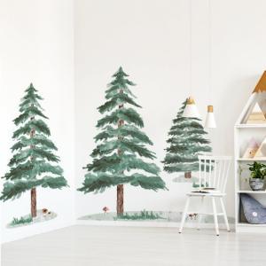 Nálepky na stenu Forest - stromček 3 ks