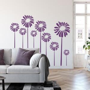 Nálepky na stenu - Kvety
