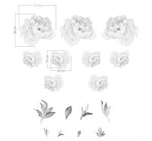 Nálepky na stenu Nature - pivonky - biele DK307