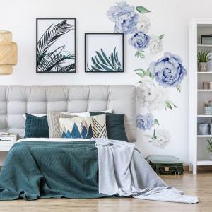 Nálepky na stenu Nature - pivonky - modré DK281