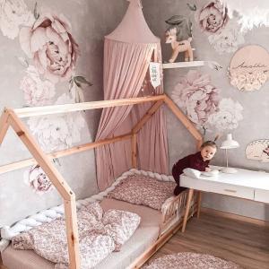Nálepky na stenu Nature - pivonky - ružové DK275