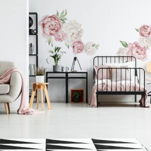 Nálepky na stenu Nature - pivonky - ružové DK280