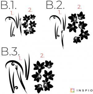 Nálepky na stenu - Ornament s kvetmi