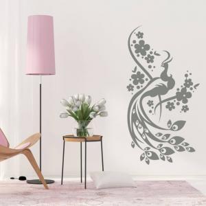Nálepky na stenu - Páví ornament