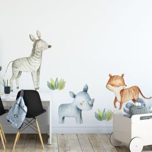 Nálepky na stenu Safari - zvieratká