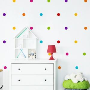Nálepky na stenu Shapes - dots 133ks DK202