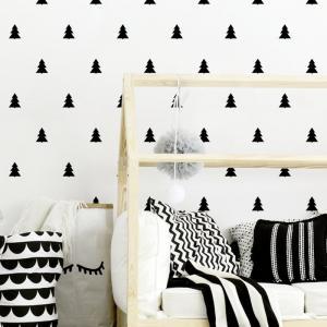 Nálepky na stenu Shapes - stromčeky 48ks