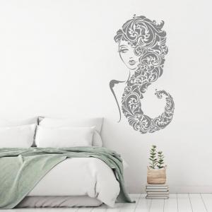 Nálepky na stenu - Vlasy v ornamente I.