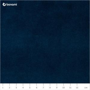 Námornícky modrá zamatová leňoška Kooko Home Harmony, pravý roh
