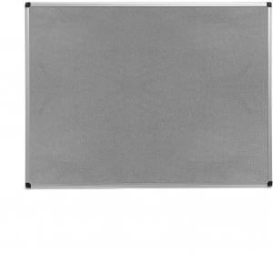 Nástenka s hliníkovým rámom Maria, 1200x900 mm, šedá
