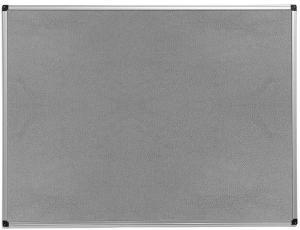 Nástenka s hliníkovým rámom Maria, 600x450 mm, šedá