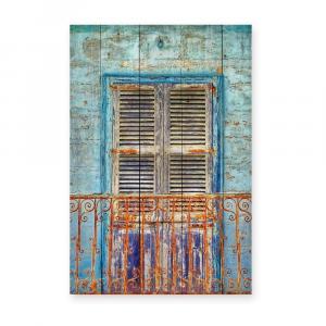 Nástenná ceduľa z borovicového dreva Really Nice Things Balcony, 40×60 cm