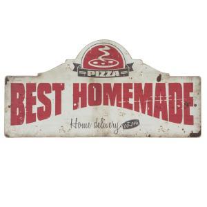Nástenná drevená ceduľa Best Homemade - 60 * 2 * 30 cm