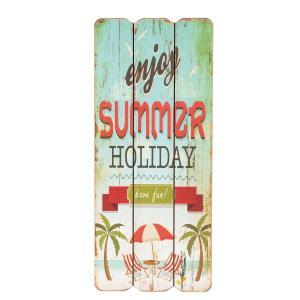 Nástenná drevená ceduľa Summer Holiday - 15 * 1 * 34cm