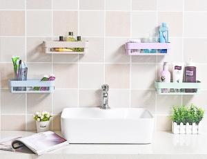 Nástenná polica do kúpeľne - 4 farby Farba: ružová