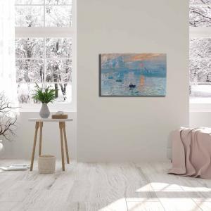 Nástenná reprodukcia na plátne Claude Monet Sunrise, 70 × 45 cm
