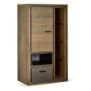 Nástenná skrinka z akáciového dreva Furnhouse Malaga Duo