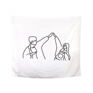 Nástenná tapisérie zamilovaný pár Varianta: 4, Veľkosť: L