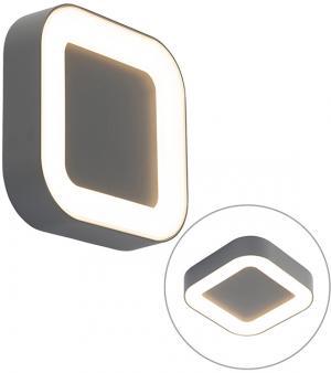 Nástenné a stropné svietidlo sivé hranaté IP54 - Ariel