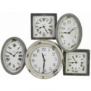 Nástenné hodiny Clayre & EEF, World, 4KL0074, 58x42,5cm