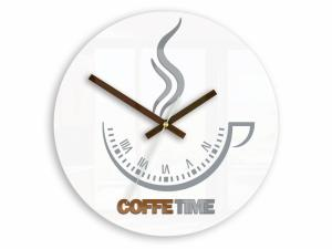 Nástenné hodiny Coffe Time biele