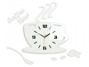 Nástenné hodiny Coffee biele