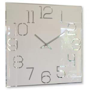 Nástenné hodiny Digit Flex z120-2-0-x, 50 cm, biele