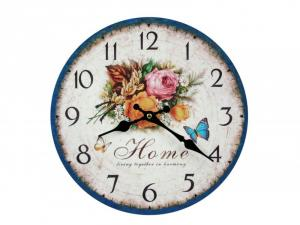 Nástenné hodiny drevené, Vintage,CQ5238, 30cm