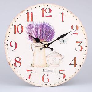 Nástenné hodiny HLC, Levanduľa 25033, 34cm
