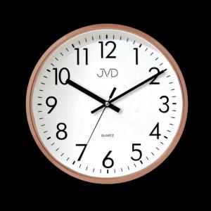 Nástenné hodiny JVD HA43.3, ROSEGOLD, 33cm