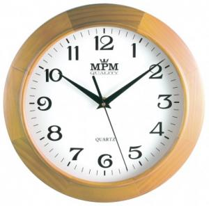 Nástenné hodiny MPM, 2470.53 - svetlé drevo, 25cm