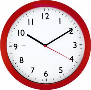 Nástenné hodiny MPM, 2476.20 - červená, 28cm
