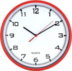Nástenné hodiny MPM, 2478.20.A - červená, 26cm