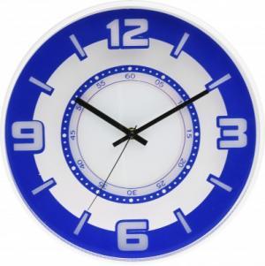 Nástenné hodiny MPM, 3220.30 - modrá, 30cm