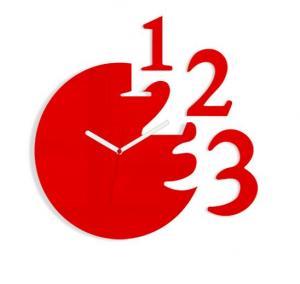 Nástěnné hodiny Numero červené