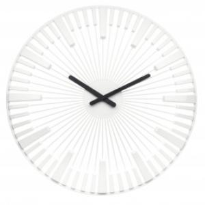 Nástenné hodiny PIANO , Koziol, biela, 45cm