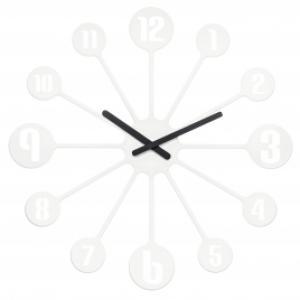 Nástenné hodiny PINBALL, Koziol, biela 45cm