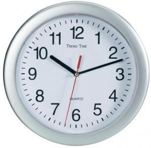 Nástenné hodiny Trend Time strieborné 25 cm,