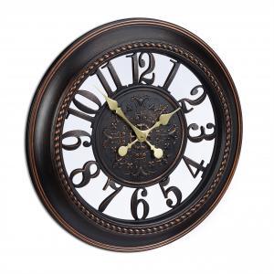 Nástenné hodiny Vintage Blumen, rd2002 hnedé, 56cm
