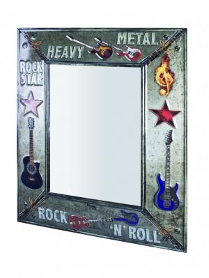 Nástenné zrkadlo Heavy Metal, 70 cm