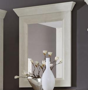 Nástenné zrkadlo Kashmir D40, bielená borovica