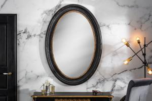 Nástenné zrkadlo Kathleen 135 cm čierno - zlaté
