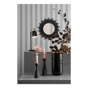 Nástenné zrkadlo s rámom v čiernej farbe PT LIVING Peacock Feathers, 60×30cm