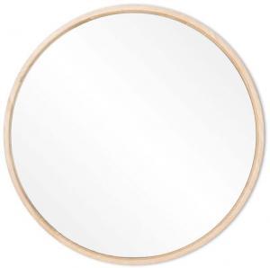 Nástenné zrkadlo s rámom z masívneho dubového dreva Gazzda Look, ⌀ 27 cm
