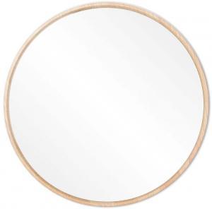Nástenné zrkadlo s rámom z masívneho dubového dreva Gazzda Look, ⌀ 32 cm