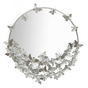 Nástenné zrkadlo v striebornej farbe Mauro Ferretti Round Silver, ø 91 cm