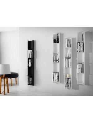 Nástenný regál / knižnica Libri, 150 cm, čierna